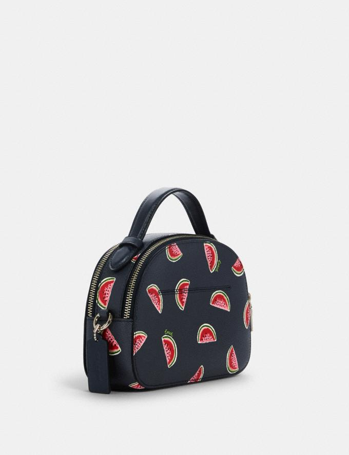 Coach Serena Satchel With Watermelon Print Sv/Navy Red Multi  Alternate View 1
