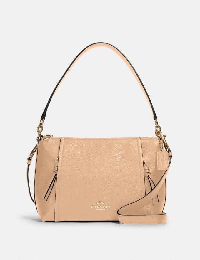 Coach Small Marlon Shoulder Bag Im/Taupe