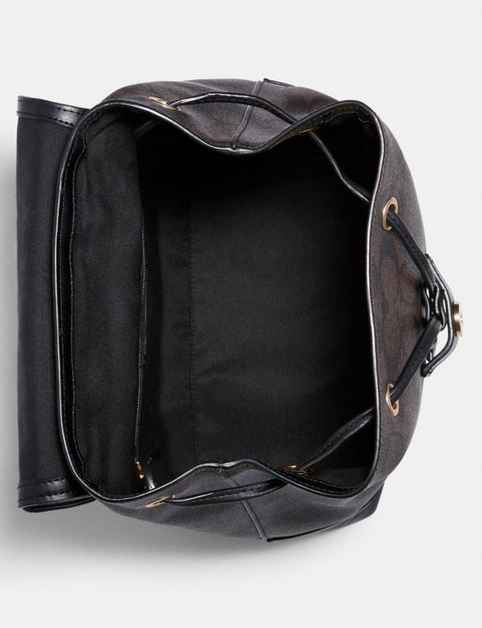 Coach Elle Backpack in Signature Canvas Im/Brown Black  Alternate View 1