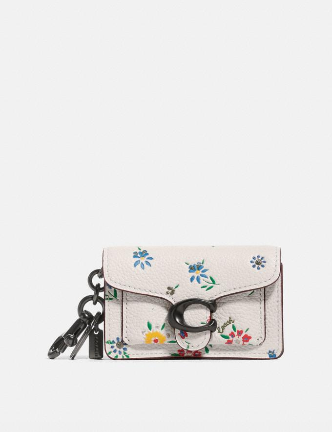 Coach Mini Tabby Bag Charm With Wildflower Print Pewter/Chalk Multi Women Accessories Bag Accessories & Keyholders