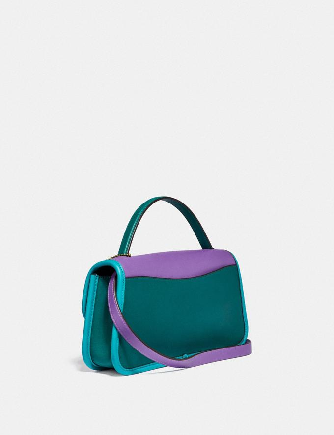 Coach Turnlock Clutch in Colorblock Brass/Bright Violet Multi New Women's New Arrivals Collection Alternate View 1