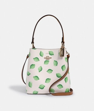 SMALL TOWN BUCKET BAG WITH LIME PRINT