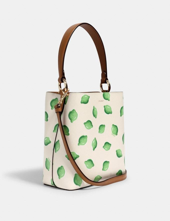 Coach Small Town Bucket Bag With Lime Print Im/Chalk Green Multi  Alternate View 1