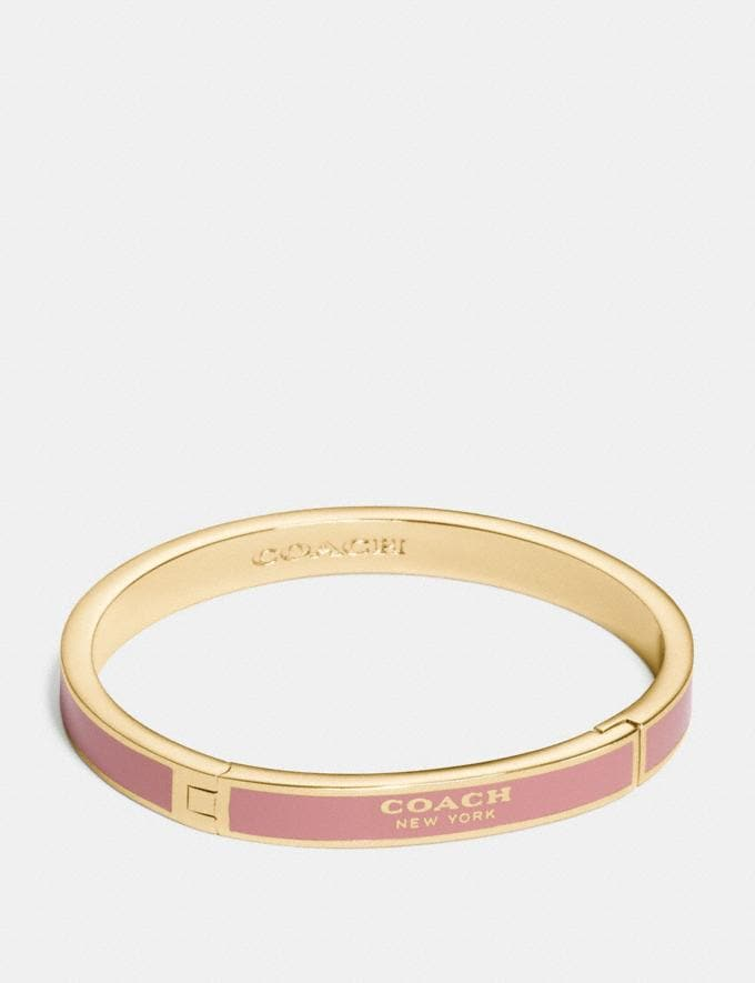 Coach Coach Hinged Bangle Chalk/Gold