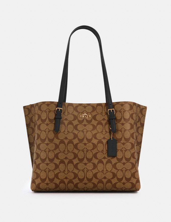 MOLLIE TOTE IN SIGNATURE CANVAS