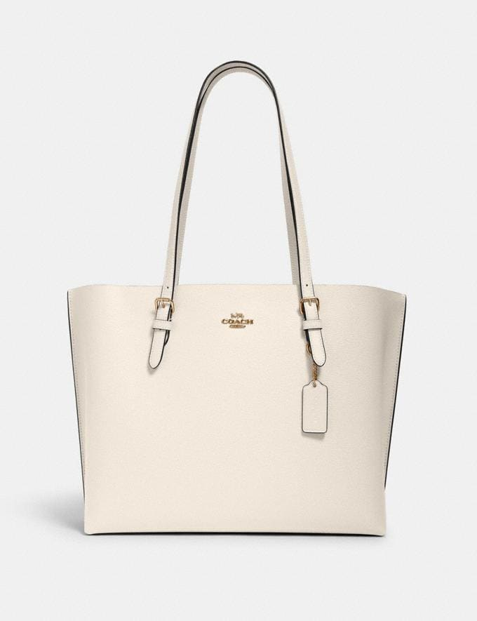 Coach Mollie Tote Im/Chalk Light Saddle What's New