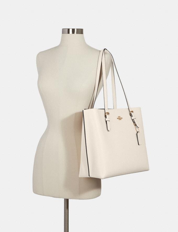 Coach Mollie Tote Im/Chalk Light Saddle What's New Alternate View 3