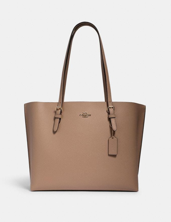 Coach Mollie Tote Im/Taupe Oxblood What's New