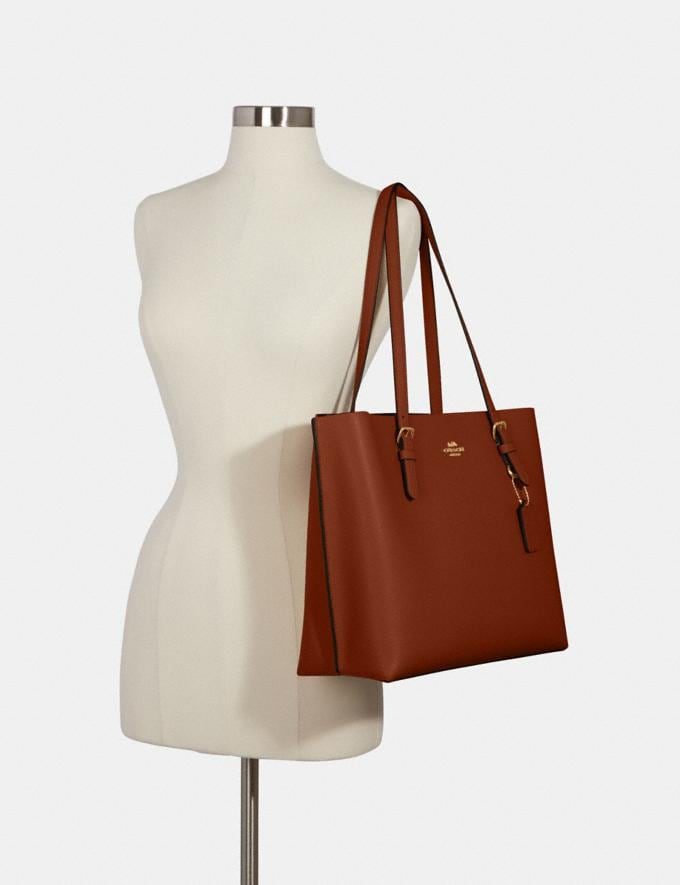 Coach Mollie Tote Im/Taupe Oxblood What's New Alternate View 3