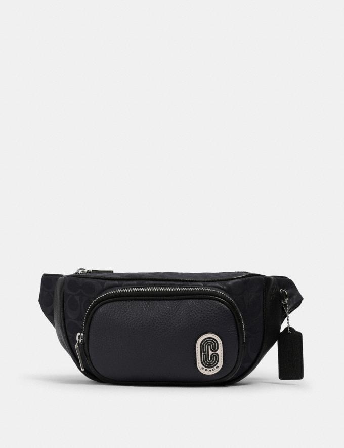Coach Court Belt Bag in Signature Nylon Sv/Midnight