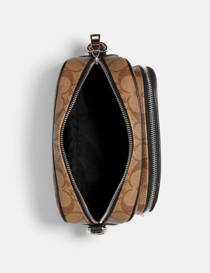 Coach Court Crossbody in Signature Canvas With Coach Patch Sv/Khaki/Black What's New Alternate View 1