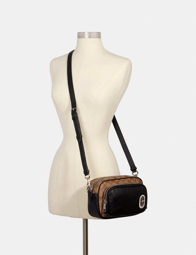 Coach Court Crossbody in Signature Canvas With Coach Patch Sv/Khaki/Black What's New Alternate View 2