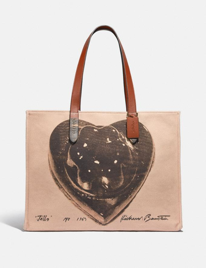 Coach Coach X Richard Bernstein Tote 42 With Jello Heart Lh/Black Multi New Women's New Arrivals