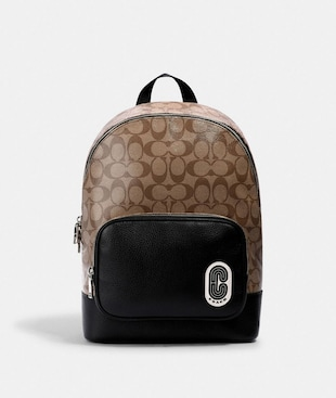 COURT BACKPACK IN SIGNATURE CANVAS WITH COACH PATCH