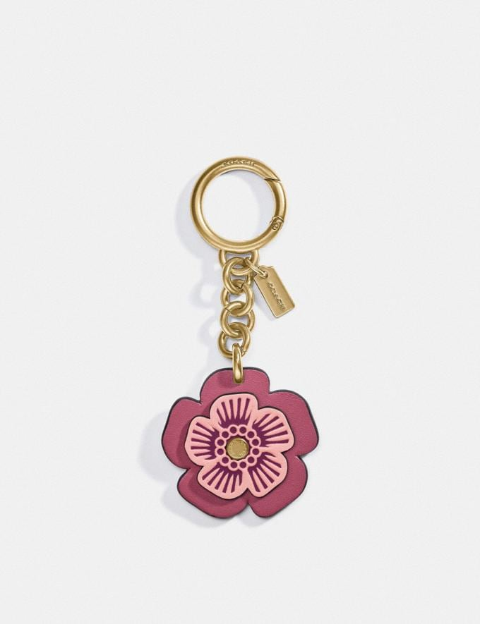 Coach Tea Rose Bag Charm B4/Rouge New Women's New Arrivals Accessories