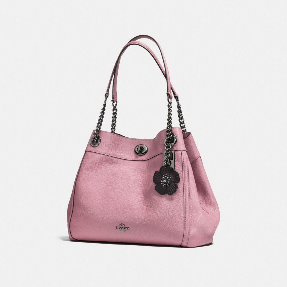 Coach Tea Rose Bag Charm Alternate View 1