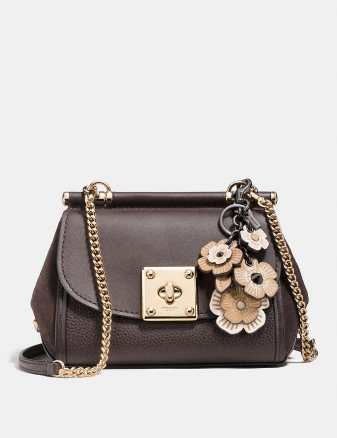 Coach Tea Rose Mix Bag Charm Chalk/Black Gifts For Her Alternate View 2