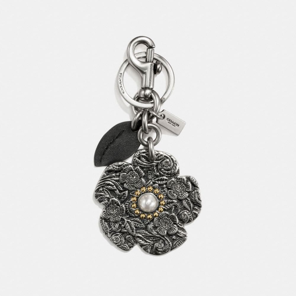 Coach Tooled Tea Rose Bag Charm