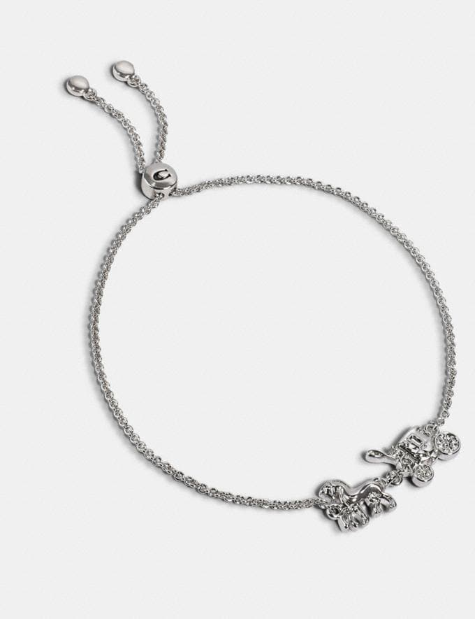 Coach Horse and Carriage Slider Bracelet Silver