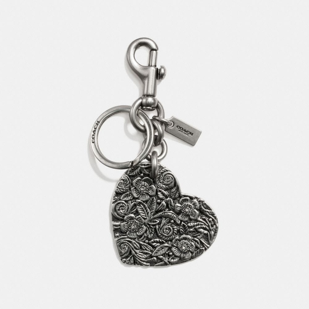 TOOLED HEART BAG CHARM