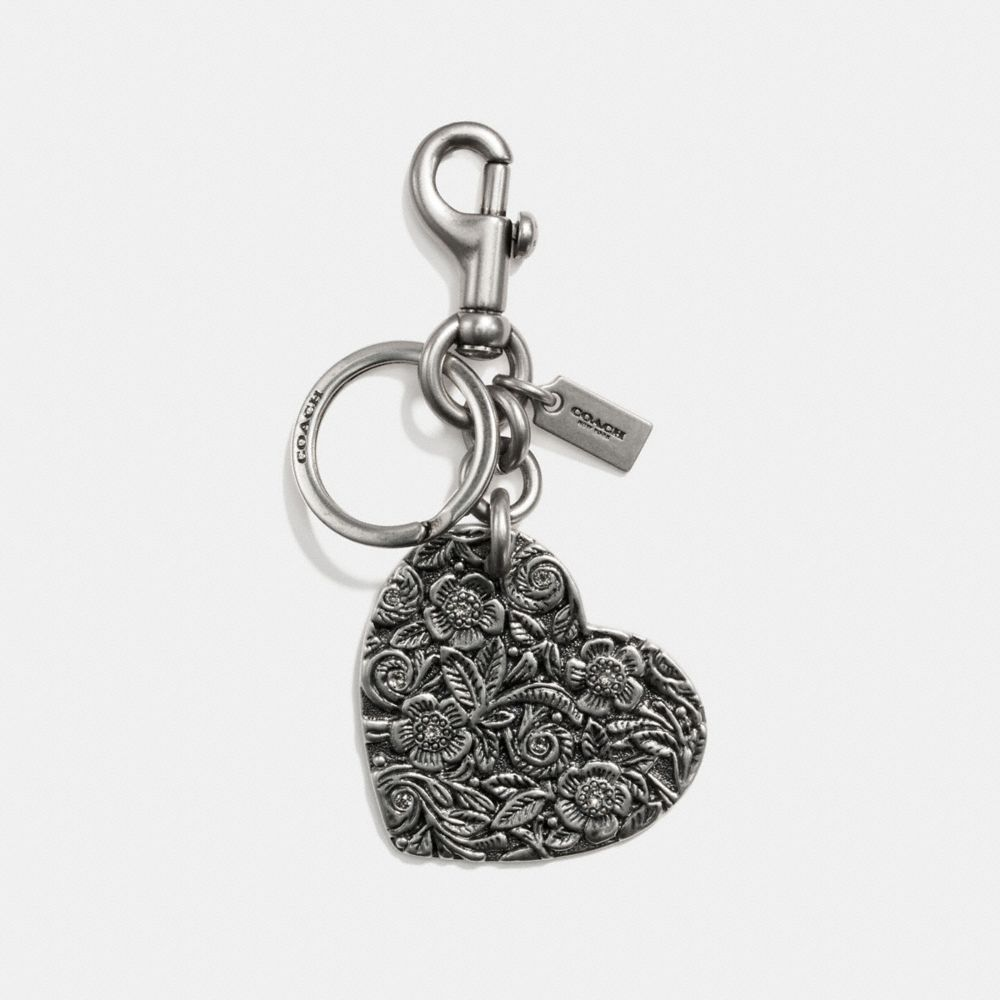 Coach Tooled Heart Bag Charm