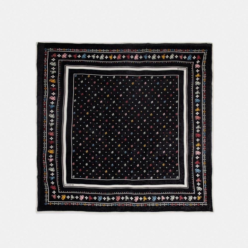 Coach Coach Floral Bandana Oversized Square