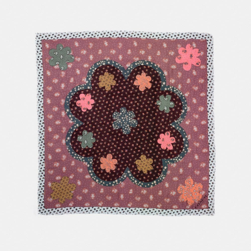 desert flower patchwork oversized scarf