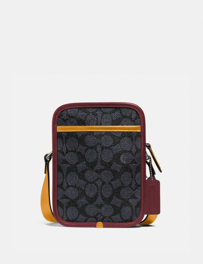 Coach Zip Camera Bag in Signature Canvas Ji/Charcoal Multi Gifts For Him Under $500