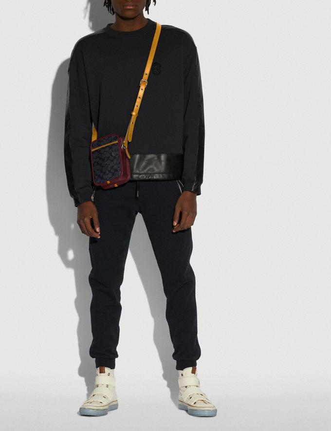 Coach Zip Camera Bag in Signature Canvas Ji/Charcoal Multi Gifts For Him Under $500 Alternate View 3