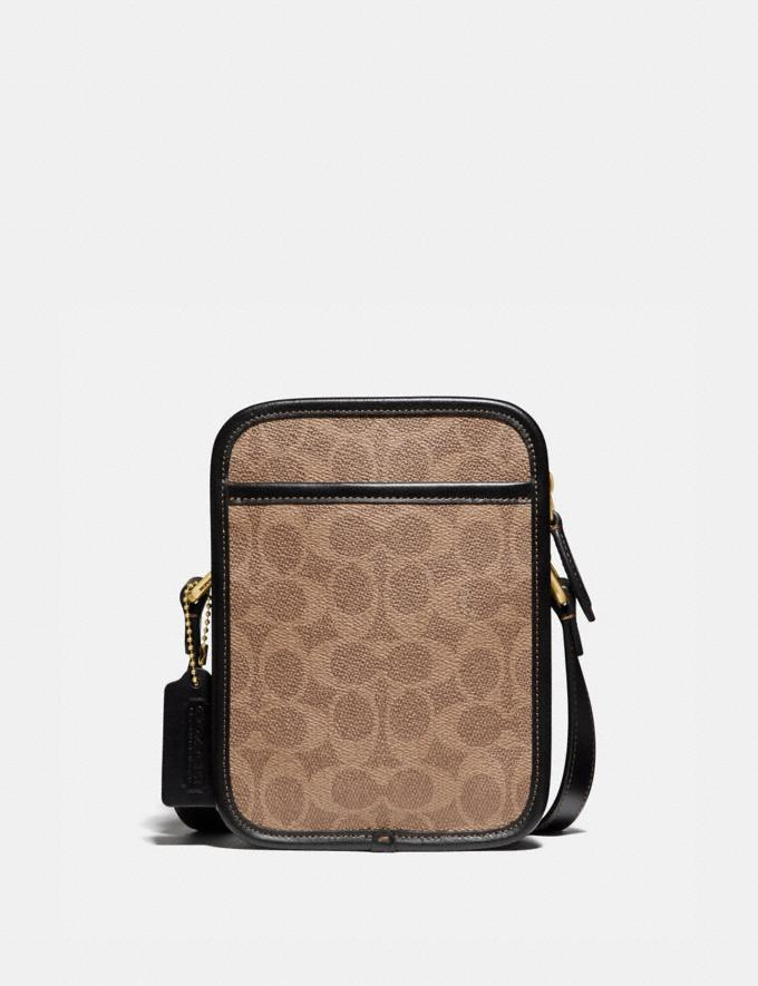 Coach Zip Camera Bag in Signature Canvas Ol/Tan/Black Gifts For Him Under $500