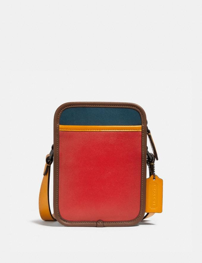 Coach Zip Camera Bag in Colorblock Black Copper/Carmine/Mineral/Yolk Gifts For Him Under $500