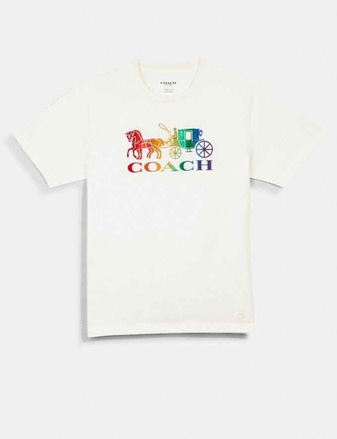 Coach Rainbow Horse and Carriage T-Shirt White