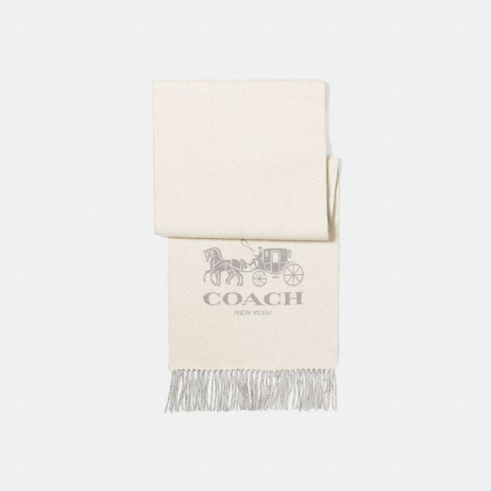 HORSE AND CARRIAGE BICOLOR CASHMERE MUFFLER