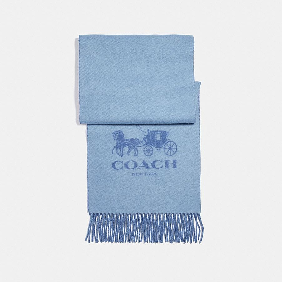 COACH: Horse and Carriage Bicolor Cashmere Muffler