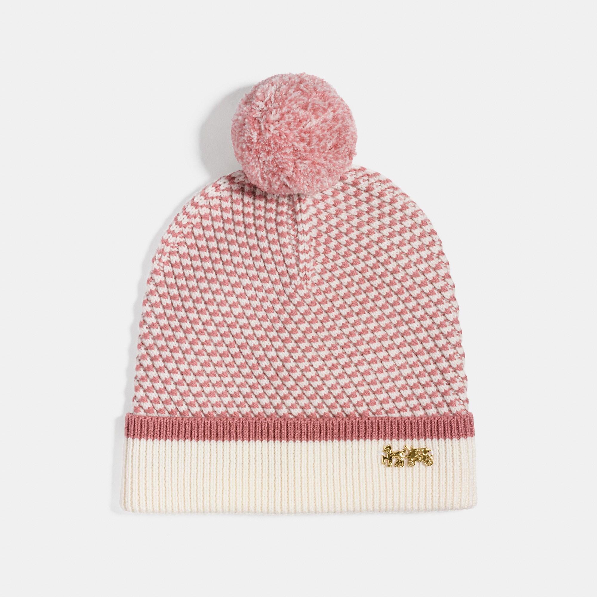 Coach Charm Knit Hat