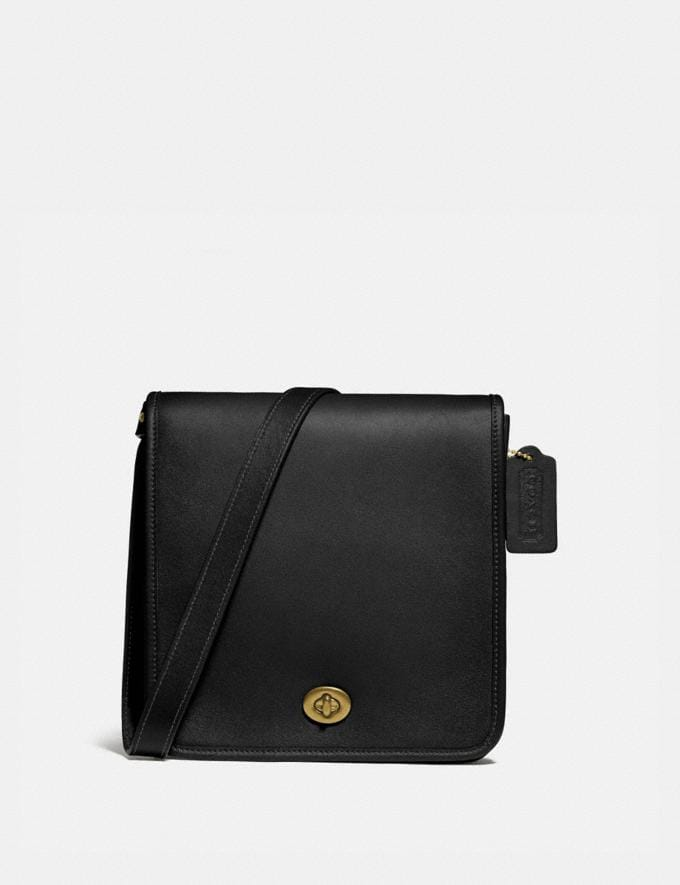 Coach Turnlock Crossbody Brass/Black New Men's New Arrivals Bags