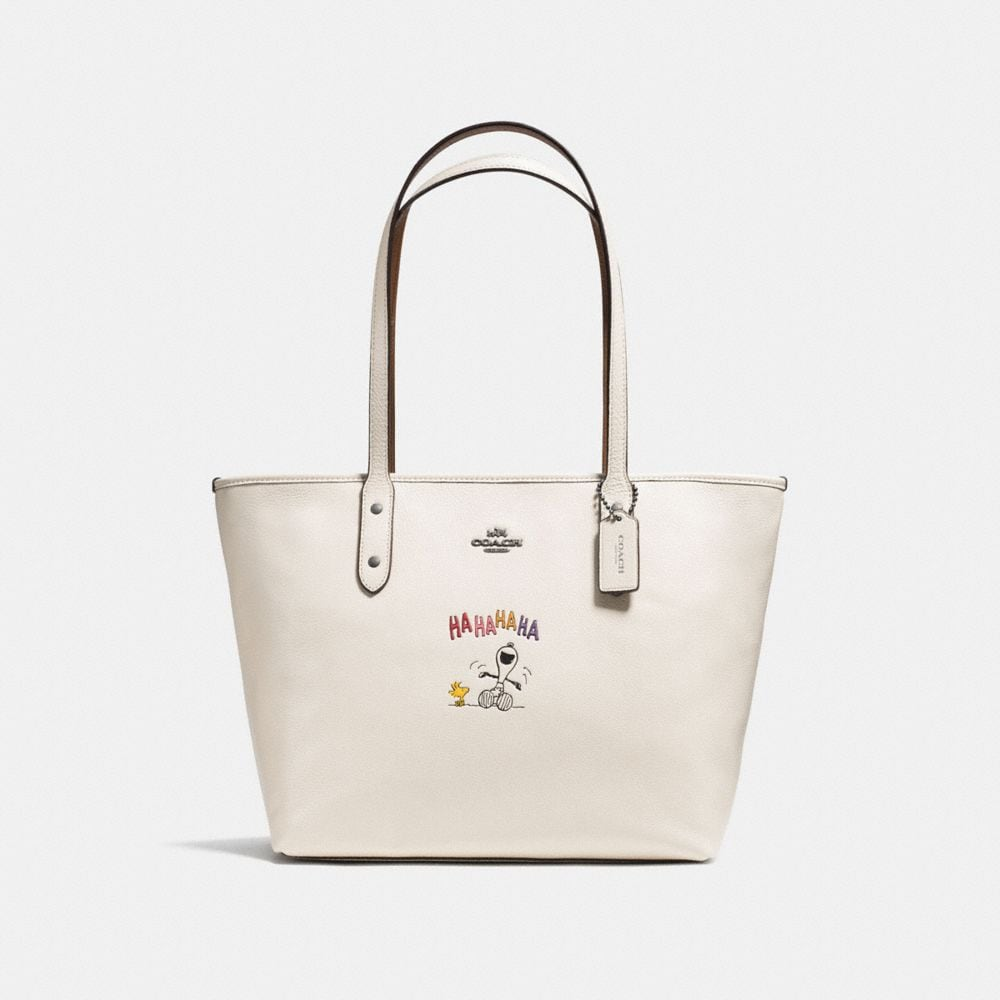 CITY ZIP TOTE WITH SNOOPY