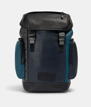 RANGER BACKPACK WITH SIGNATURE CANVAS PIECED PATCHWORK