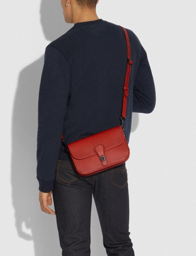 Coach Turnlock Tab Messenger Ji/Carmine New Men's New Arrivals Collection Alternate View 3