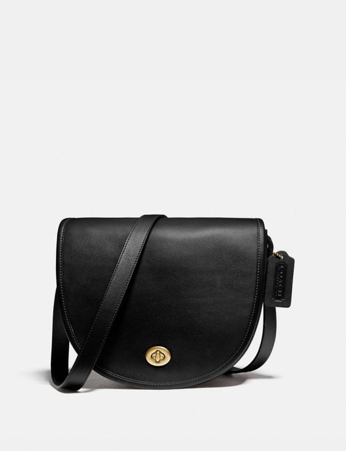 Coach Turnlock Saddle Crossbody Ol/Black Gifts For Him Under $500