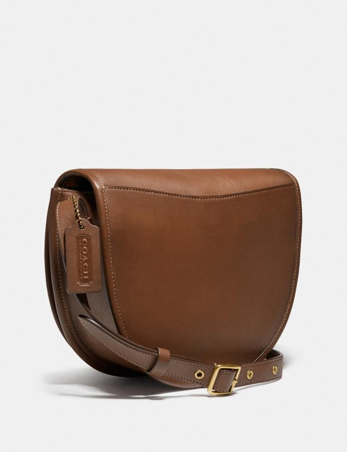 Coach Turnlock Saddle Crossbody Ol/Dark Saddle New Men's New Arrivals View All Alternate View 1