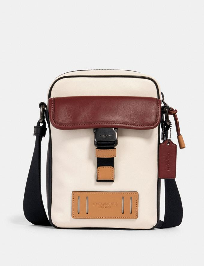 Coach Ranger Crossbody in Colorblock Qb/Chalk/Heather Grey/Burgundy