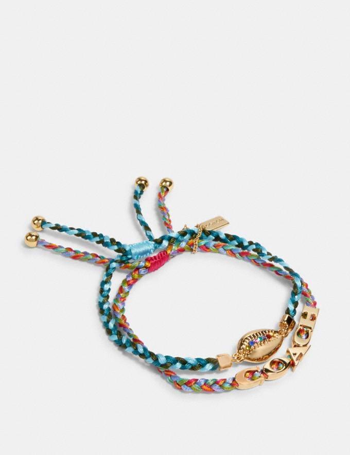 Coach Shell Bracelet Set Multicolor