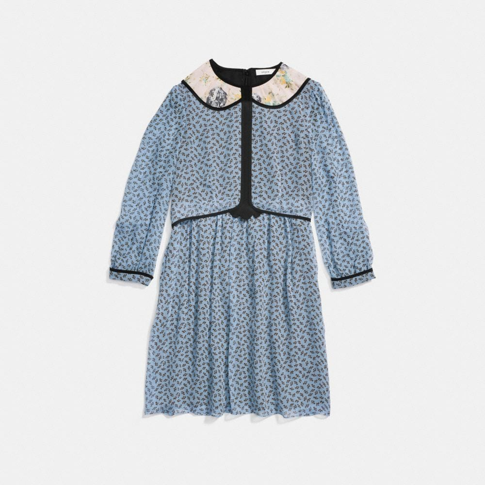 duck geo babydoll dress