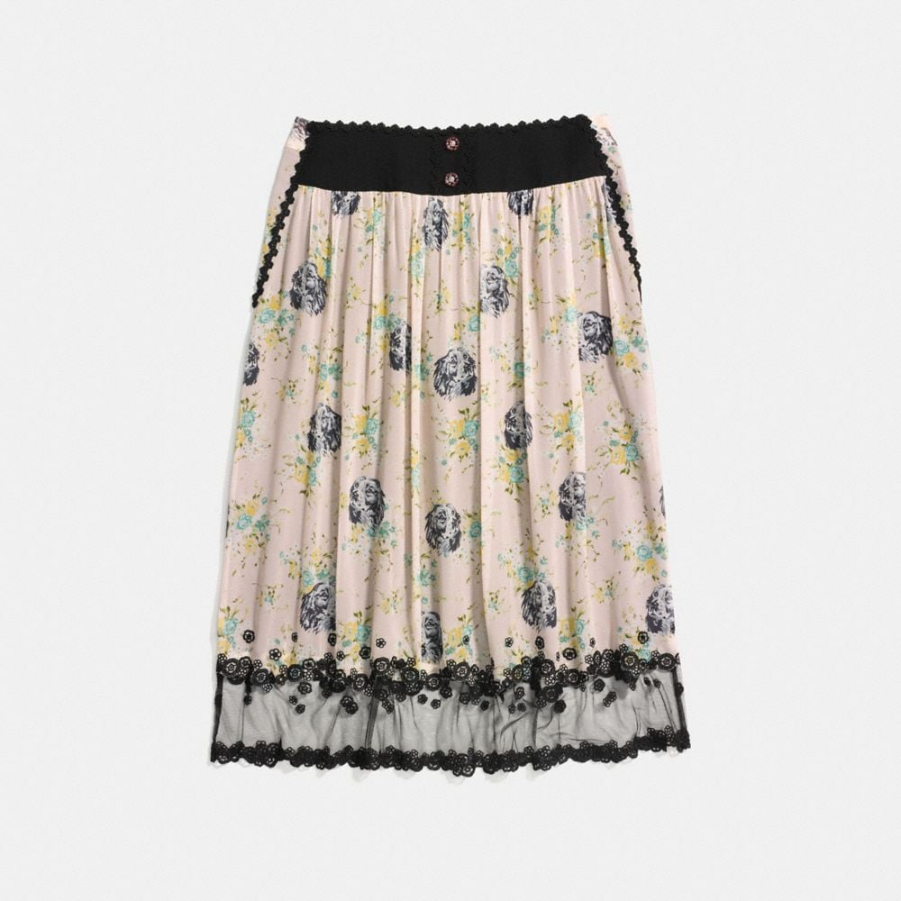 Coach Prairie Dog Rose Tiered Skirt