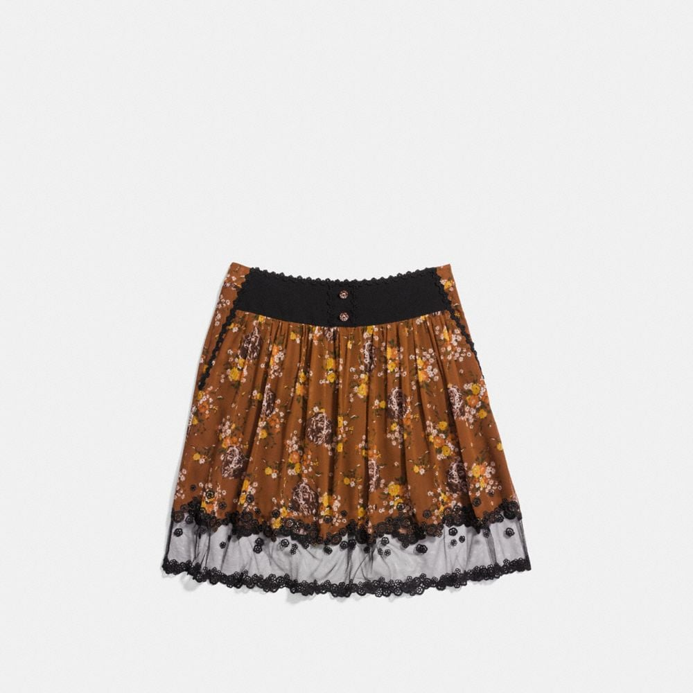 Coach Prairie Dog Rose Tiered Skirt Alternate View 1