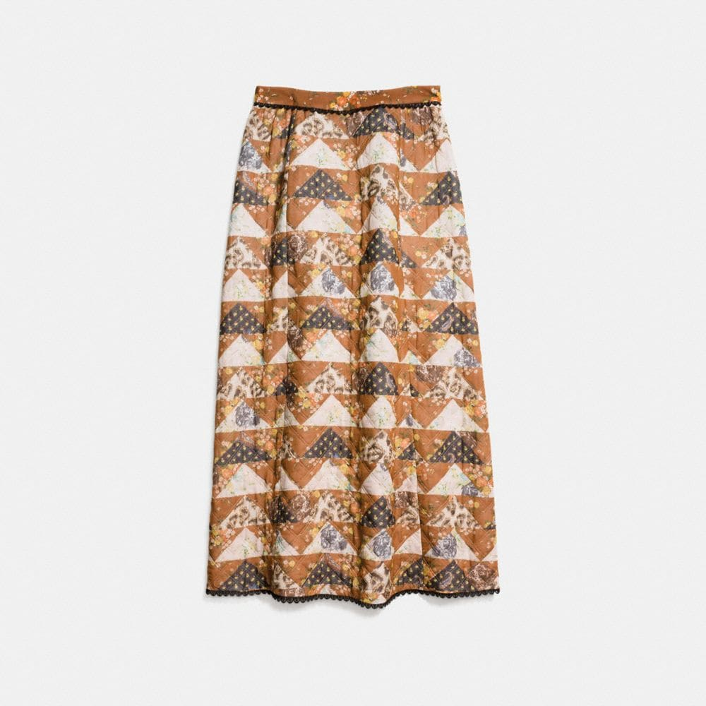 Coach Patchwork Maxi Skirt