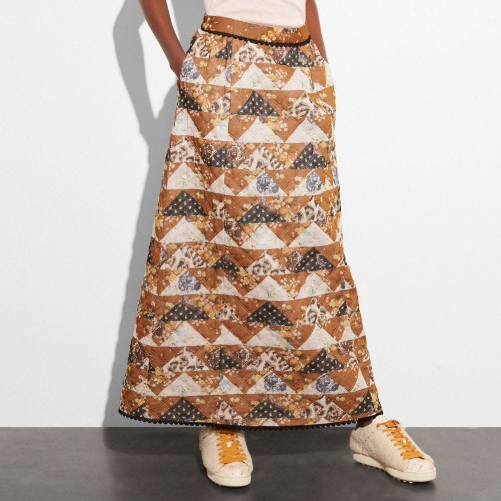 Coach Patchwork Maxi Skirt Alternate View 1