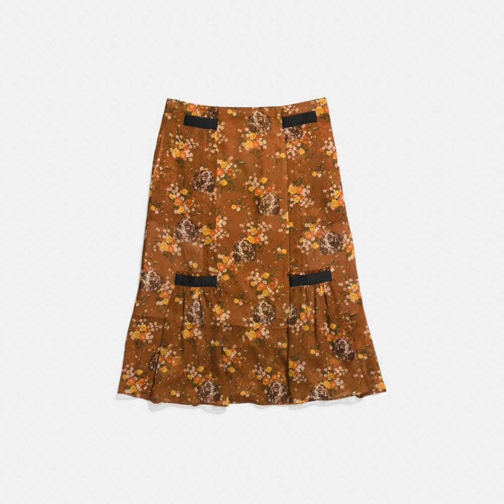 Coach Prairie Dog Rose Skirt