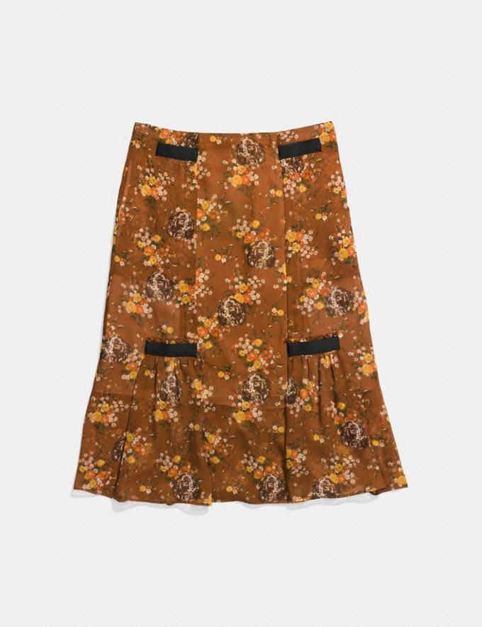 Coach Prairie Dog Rose Skirt Brown Multicolor
